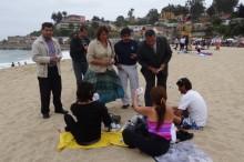 Actividad en playa en El Tabo