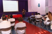 La encargada de educación de SENDA Antofagasta, Lis Riveros Mena