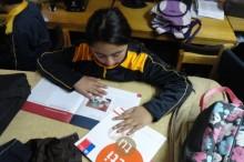 Aplicación del programa Actitud en Escuela República de Chile de Panguipulli