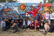 Mural preventivo en Pichilemu