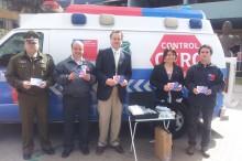 Autoridades regionales en el marco del lanzamiento plan especial fiestas patrias control cero alcohol