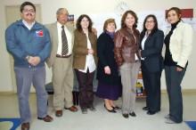 Profesionales del área de tratamiento del SENDA junto a los consejeros técnicos del tribunal de familia de Copiapó