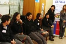 Equipo ganador del debate que representará al liceo Jorge Alessandri de Tierra Amarilla