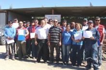 Trabajadores y trabajadoras de la empresa constructora Boggioni Ltda quienes se encuentran participando de la estrategia Mipe del SENDA