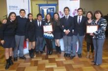Estudiantes del liceo Jorge Teillier