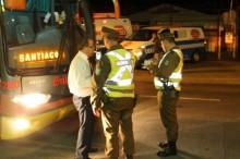 Controles a buses en Los Lagos