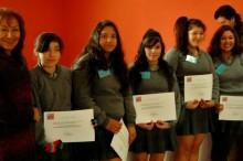 Estudiantes ganadoras del debate