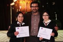 Alumnas ganadoras del Festival Preventivo de SENDA en Futrono