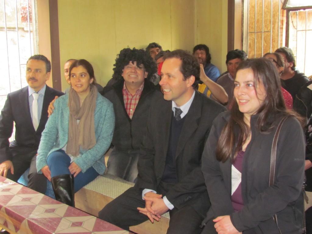Directora Arriagada junto a Directorio CChC y trabajador@s