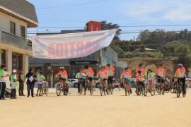 Vecinos disfrutan de entretenida Cicletada Familiar