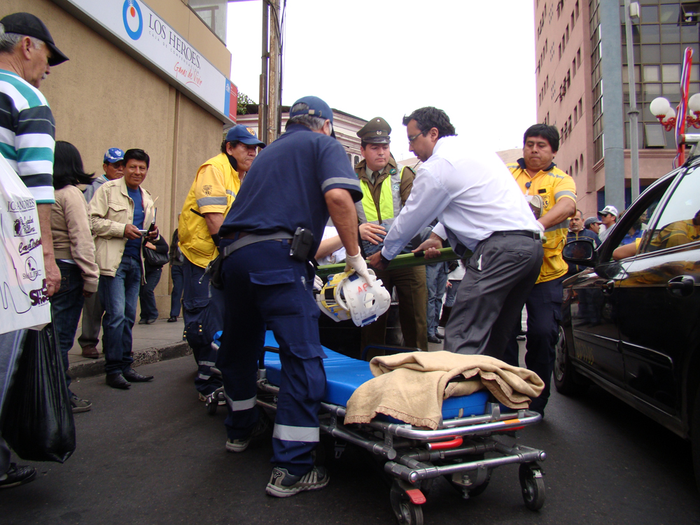 Simulación de accidente incluyó servicio de ambulancia