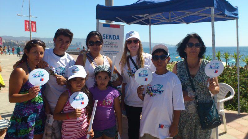 En playa Chica de El Tabo parte campaña veraniega en provincia de San Antonio