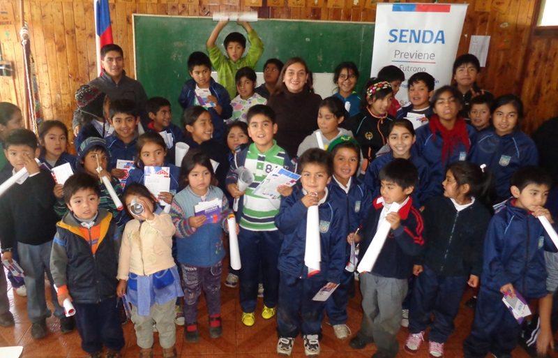Cientos de niños de la Región Metropolitana se unieron para decirle no a las drogas
