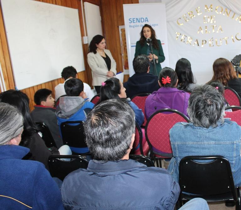Egresan usuarios de centro de tratamiento de Senda en Calbuco
