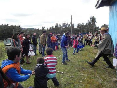 Pobladores del sector rural Ñanculen participaron de actividades conmemorativas de Fiestas Patrias