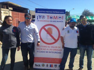 En Andacollo se difundió mensaje preventivo por las Fiestas Patrias