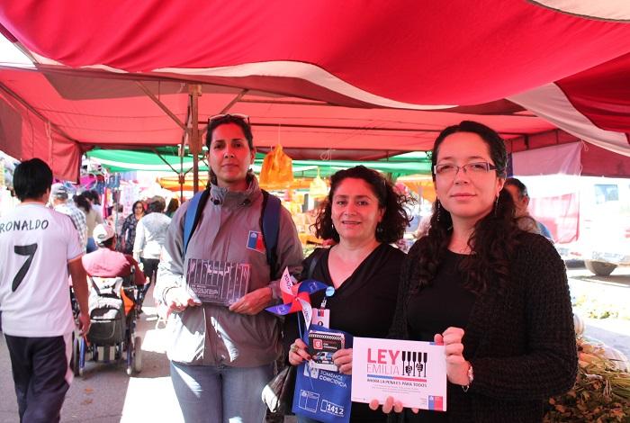 Campaña de prevención de accidentes en Fiestas Patrias llegó hasta la Feria libre de Copiapó