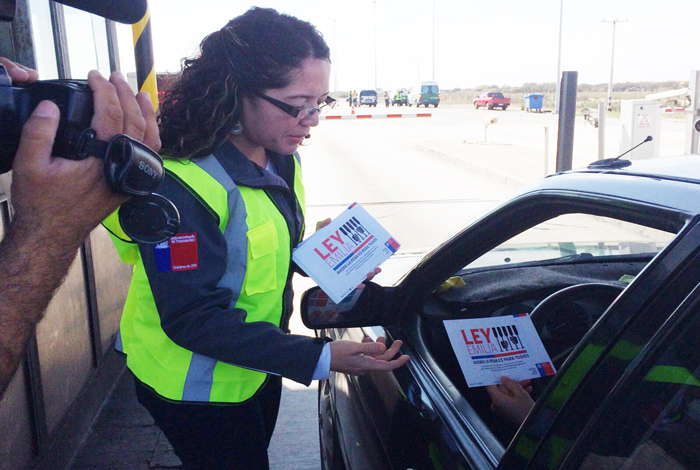 Gobierno entregó recomendaciones para un Viaje Seguro a conductores en la Plaza de Peajes