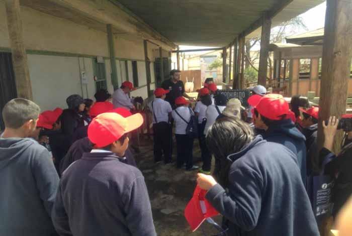 Estudiantes de Camiña realizaron ruta preventiva en Oficinas Salitreras