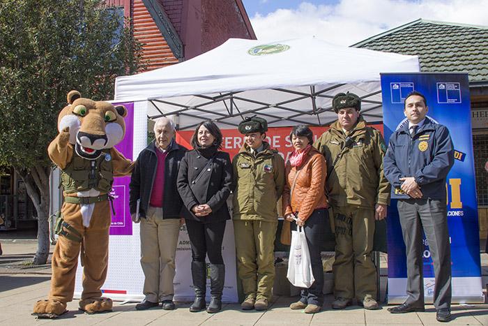 Senda Aysén participó en ferias de Seguridad Ciudadana