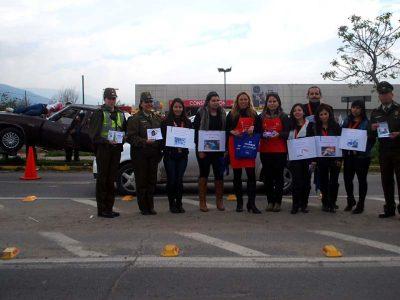 Con simulación de accidente realizan campaña de prevención por Fiestas Patrias en Quillota