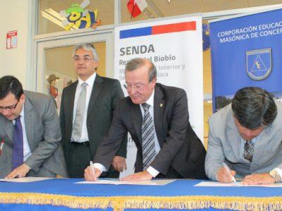 SENDA Biobío y Colegio Fraternidad firman protocolo de trabajo colaborativo para la prevención de drogas y alcohol