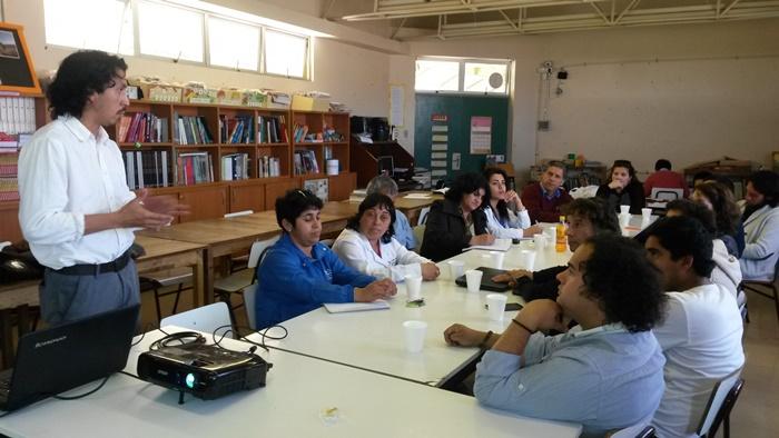 Conforman primera mesa educativa en colegio de Monte Patria