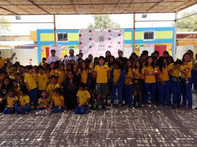 Alumnos de Pozo Almonte promueven la prevención de drogas a través del arte