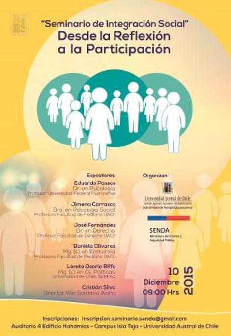 Seminario reflexionará sobre integración social de personas con problemática de drogas