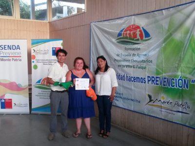 Certifican a integrantes de escuela preventiva en Villa El Palqui