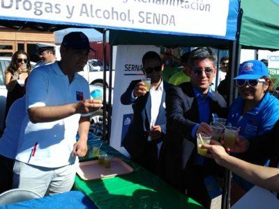 «Chile Celebra un Verano Seguro» en plena Avenida del Mar de La Serena