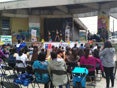 SENDA Previene Valdivia lanzó campaña de verano en sector Pablo Neruda
