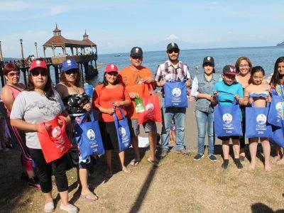 Con intervención cultural urbana promueven campaña de verano de SENDA en Frutillar