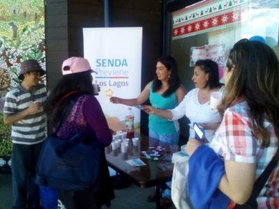 """Senda Previene Los Lagos realizó campaña preventiva """"Celebremos con Responsabilidad"""" en fiestas de fin de año"""