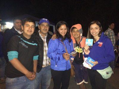 SENDA Previene Panguipulli difunde campaña de verano en Feria Costumbrista HUA-HUM