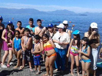 Niños y jóvenes disfrutaron actividades recreativas en balneario de Puerto Nuevo
