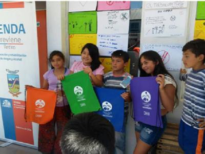 Escuelas de verano de Retiro recibieron mensajes preventivos del consumo de drogas y alcohol