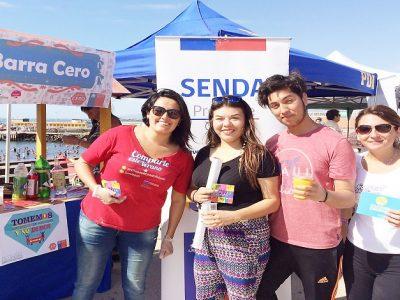Barra cero alcohol se luce en Chañaral y Caldera, regalando más 400 tragos