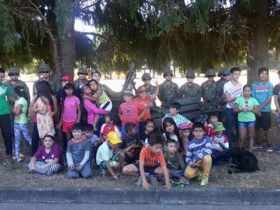 Niños y Niñas conocieron la vida al interior del Regimiento de Artillería N°2 Maturana de La Unión