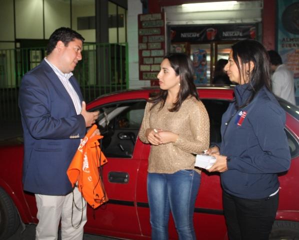 Autoridades participan en control preventivo a conductores en Ovalle