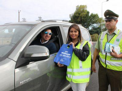 """SENDA Araucanía desplegó mensaje preventivo junto a autoridades regionales para """"retorno seguro"""""""
