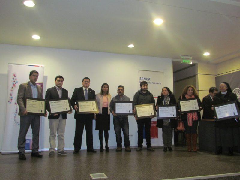SENDA Araucanía certificó a organizaciones laborales como espacios preventivos