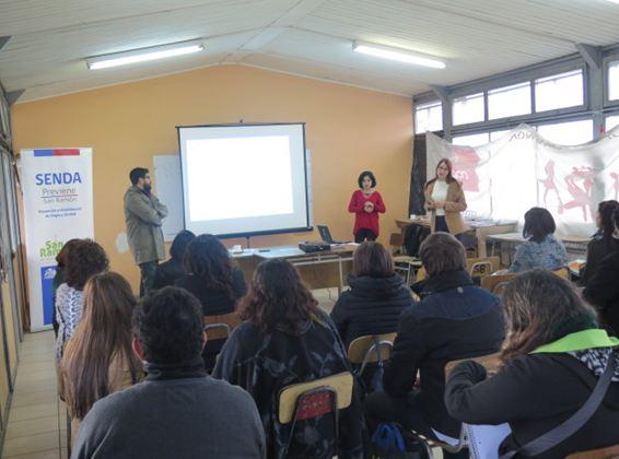 SENDA San Ramón difunde Continuo Preventivo a profesionales de la educación
