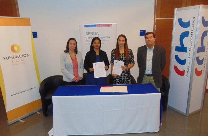 Senda Coquimbo y Fundación Social de la CChC inician trabajo colaborativo