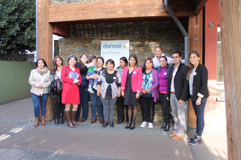 Autoridades de SENDA y SERNAM Araucanía visitaron a usuarias de Centro de Tratamiento Domo Paihuén Dianova