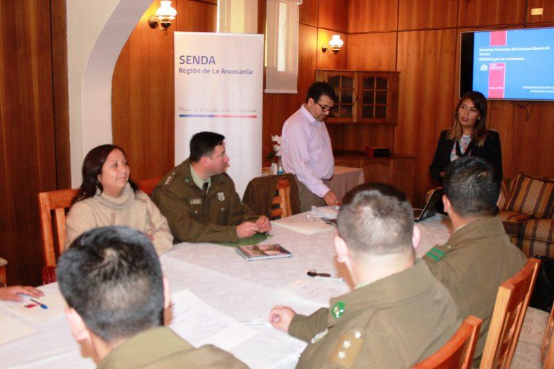 SENDA Araucanía capacita a funcionarios de Carabineros  en control «cero alcohol»