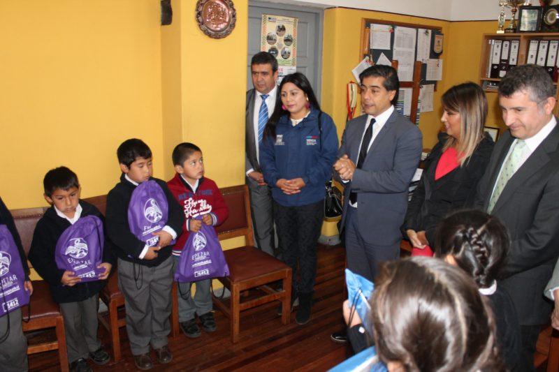 SENDA reconoce esfuerzo en prevención de escuela rural Catriache de la comuna de Nueva Imperial