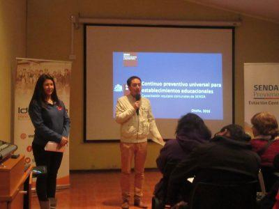 Previene Estación Central capacita a profesionales de la educación en Continuo Preventivo
