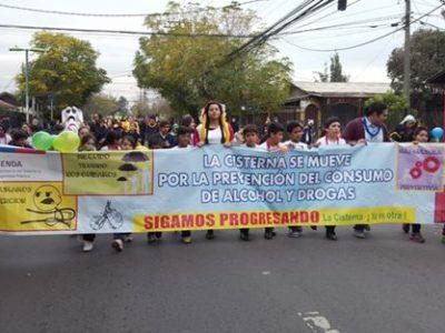 Previene La Cisterna realiza entretenido carnaval preventivo