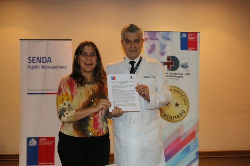 SENDA firma acuerdo con Hospital San Juan de Dios por programa TCV